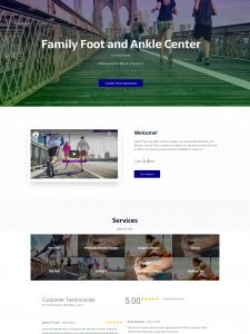 Medical Practice Web Design Example Photo
